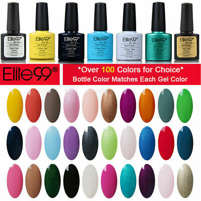 Nail Gel Polish Set Elite99 UV LED Colour Base Top Coat Varnish Lacquer DIY • 2.99£