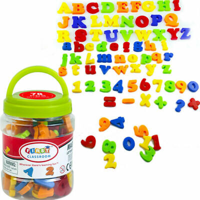 78PCS Gift Learning Toy Fridge Magnetic Magnets Xmas Numbers Alphabet Letters • 6.72£