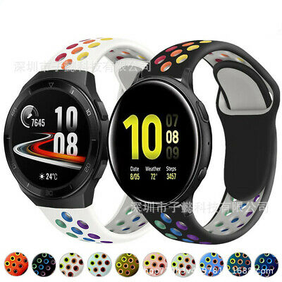 AU8.99 • Buy For Samsung Galaxy Watch Active 1 2 40mm 44mm Silicone Band Strap Pride Rainbow