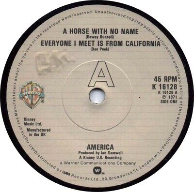 America  - A Horse With No Name (7 , Single, RE) • 13.49£