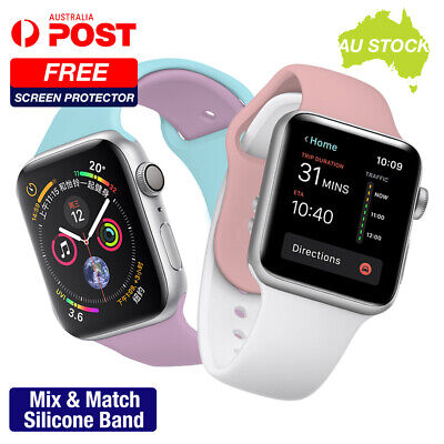 AU8.05 • Buy Apple Watch Series 1 2 3 4 5 6 SE Mix&Match Silicone Band Strap 38 40 42 44mm