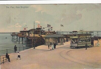 New Brighton The Pier Postcard Used Message From Queens Arms Liscard • 4£