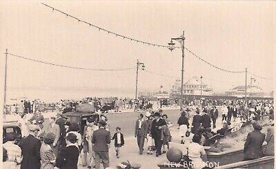 New Brighton Sea Front Real Photo Postcard Unused • 3£