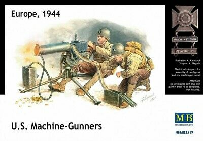$14.95 • Buy Masterbox 1/35 WWII US Browning M1917A MG W/2 Gunners Plastic Model Kit 3519