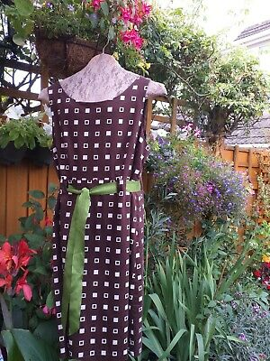 Jessica Howard Ladies Cotton Brown PrintOccasion/Work Shift Dress UK16 Pre-owned • 7.50£