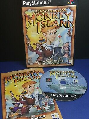 Escape From Monkey Island (PS2 / PlayStation 2) Inc Manual, Good Con - FAST POST • 5.50£