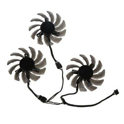AU17.45 • Buy 3Pcs 75MM T128010SU 0.35A Graphics Video Card Cooling Fans For GTX 1060 1070 Fan