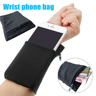AU8.92 • Buy Wallet Wrist Band Travel Portable Pocket Key Zipper Men Women Sport Armband
