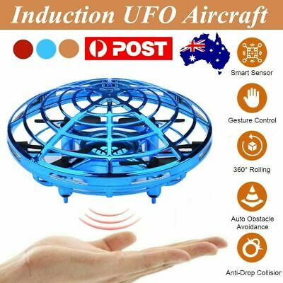 AU17.53 • Buy Mini Drone Quad Induction UFO Flying Toy Hand-Controlled RC Kids Xmas Gifts KC