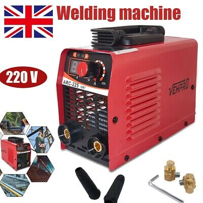 Portable Gasless MIG Welder 130 Amp Auto Flux Wire Feed Welding Machine 220V Kit • 49.95£