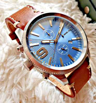 $ CDN97.15 • Buy Diesel Chronograph Men's Watch Leather Band DZ4443 SHIPS TODAY