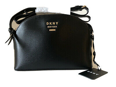 AU108.11 • Buy DKNY Madison Dome Crossbody Black Leather Bag MSRP $168 NEW