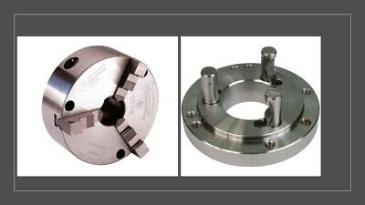 AU1481.92 • Buy Pratt Burnerd 3 Jaw Self Centring Chuck 160mm Complete Set With Backplate D1-4