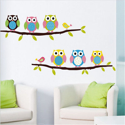 Owl Tree Wall Stickers For Living Wall Decal Children Sticker  NPDO • 4.33£