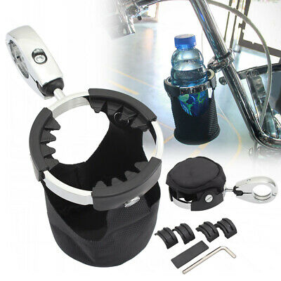 $35.99 • Buy Universal Motorcycle Drink Cup Holder With 360°swivel Ball-mount & Nylon Basket