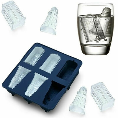 1X Silicone Doctor Who Tardis & Dalek Chocolate Or Ice Cube Tray Mould • 7.99£