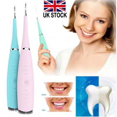 Electric Sonic Dental Scaler Tartar Calculus Plaque Remover Teeth Stains Cleaner • 6.79£