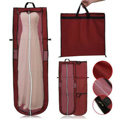 £6.07 • Buy Long Dress Cover Storage Bag For Bridesmaid Bridal Wedding Gown Dress Carrier