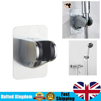 Adjustable Bathroom Wall Mounted Shower Head Handset Holder Bracket Suction • 3.75£