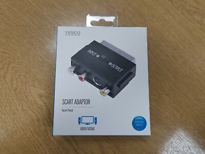 SCART To 3 RCA Composite Phono SVHS S-Video Adaptor With In Out Switch Converter • 1.99£