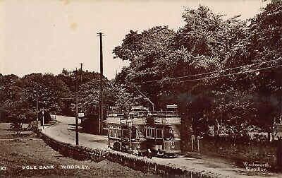 Rp Postcard - Tram Terminus, Pole Bank, Woodley, Stockport, Cheshire          • 5.50£