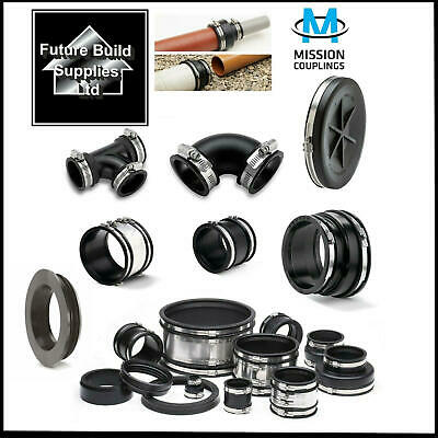 Plumbing & Drainage Flexible Rubber Boot Reducer Coupling Adaptor Pipe Connector • 8.25£