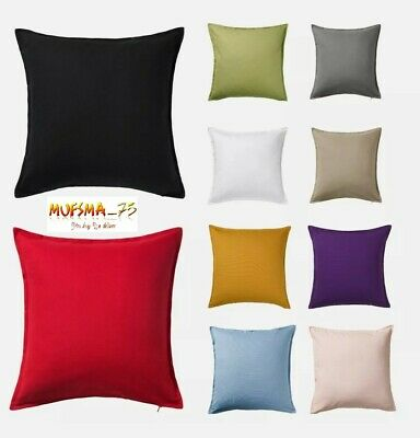 £11.99 • Buy IKEA GURLI Cushion Covers 100% Cotton Soft Fabric With Zipper Assorted Colours