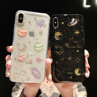 AU9.99 • Buy IPhone 12 Mini 12 Pro Max 11 XS 7 8 Bling Cute Star Clear Case Soft Rubber Cover