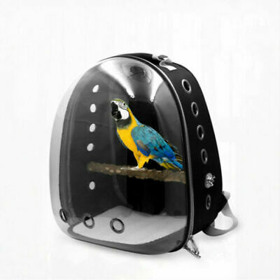 Pet Parrot Backpack Carrier Easy Carry Stands Wooden Bird Travel Bag Bird Cage • 28.99£