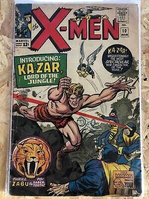 Marvel Comics X-Men #10 March 1965 Fair/good 2.0 1st App Kazar Silver Age • 22£