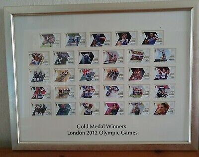 £69.95 • Buy Gold Medal Winners London 2012 Olympic Games 1st Class Stamp Frame Set