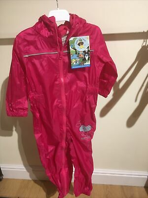 Regatta Puddle IV Waterproof Suit Pink Age36-48months 2 Years • 20£