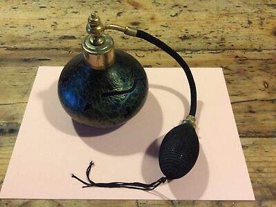 Vintage Perfume Bottles Atomiser Blue/green Glass • 4.70£