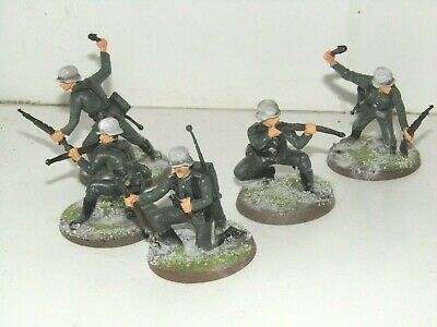 5 X Britains Deetail Wwii Winter German Infantry Squad Based Conversions  • 9.99£