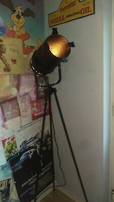 Tripod Mounted Corner Stage Light Lamp, Foot Switch With Antique Black Cord.  • 65£