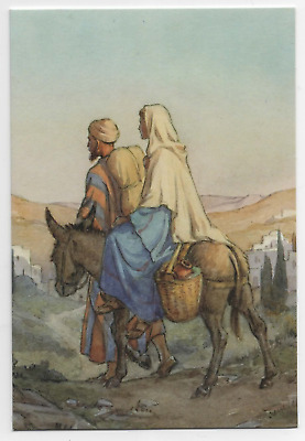 Margaret Tarrant Mary & Jesus Travelling To Bethlehem Christmas Greeting Card  • 1.75£