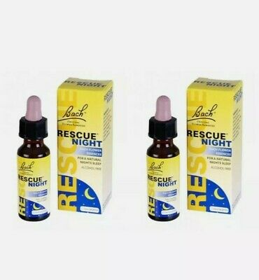 Bach Rescue Night Remedy Drops - 10ml X 2. For Natural Deep Sleep. New • 14.95£