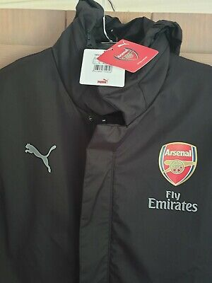 Arsenal Coach Jacket Puma New With Tags Size Small Black.  • 20£