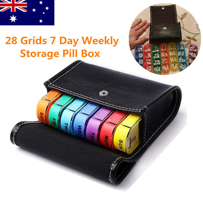 AU16.49 • Buy 28 Grids 7 Day Weekly Storage Pill Box Tablet Sorter Container Case Organizer AU