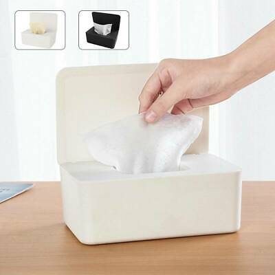 Tissue Wet Wipes Dispenser Holder Paper Storage Box Case With Lid Dustproof UK • 7.19£