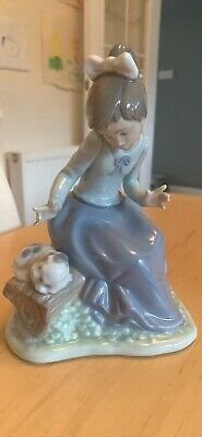 NAO By LLADRO Lets Rest Girl With Puppy 1091 • 6.99£