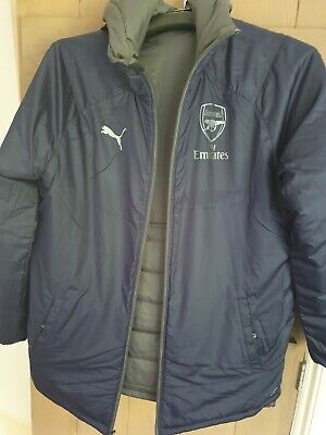 Arsenal Bench Jacket Reversible Puma Silver/Blue Size XL New With TAGS • 25£