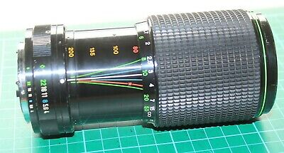 HANIMEX AUTO MC ZOOM MANUAL FOCUS 80-200mm LENS FUJICA FX FIT 1:4.0 • 7.99£