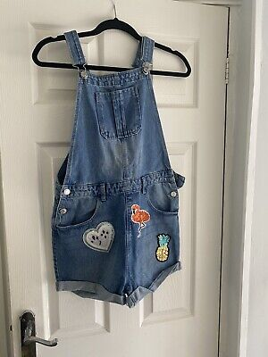 Girls Demin Dungarees Age 13-14 Years  • 1.20£