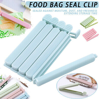 5Pcs Food Bag Clips Reusable Tie Plastic Storage Sealing Fridge Freezer Fresh • 4.53£