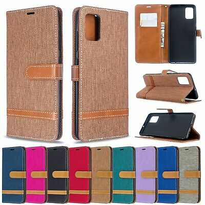 Case For Huawei P40 P30 Lite P Smart Y5 Y6 Y7 Luxury Denim Leather Flip Wallet • 4.99£