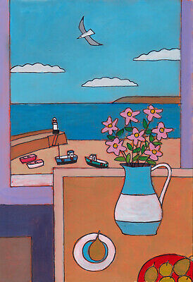 Window Onto The Harbour, St Ives    Cornwall/Cornish Art • 15£