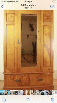 AU900 • Buy  Antique Wardrobe Huon Pine, Beautiful Piece Of Furniture. Bevelled Mirror.
