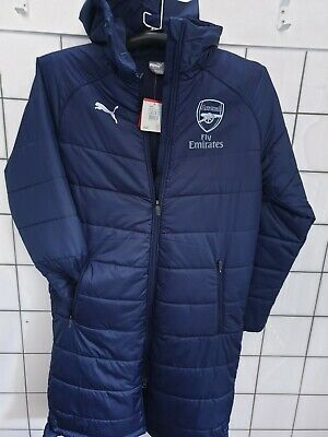 Arsenal Bench Long Jacket Blue New With TAGS PUMA Size Med • 35£