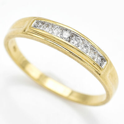 AU254.24 • Buy Vintage 10K Yellow Gold Diamond Band Ring Size 6.5 G/H